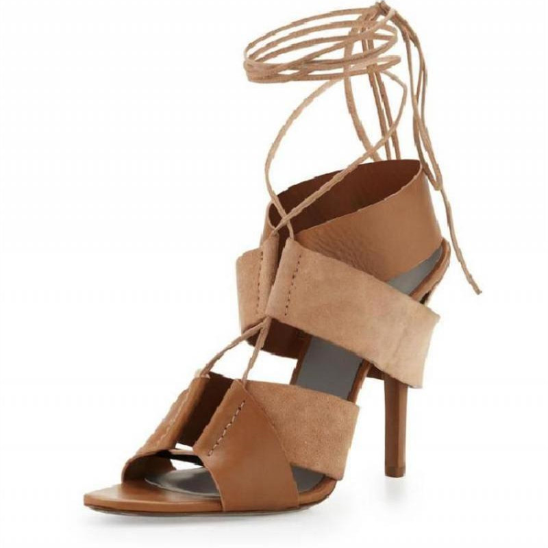 Leather Strappy Heels Promotion-Shop for Promotional Leather ...