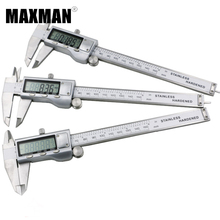 MAXMAN 0-150mm MM/INCH All Stainless Steel High Precision Electronic Digital Vernier Caliper 150MM Measuring & Gauging Tools