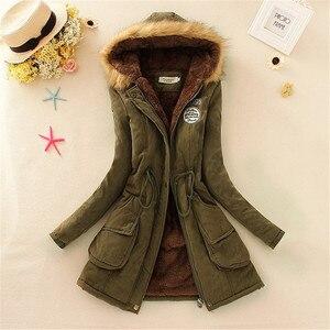 Image 3 - Женское пальто из искусственного меха, с длинным рукавом и капюшоном, на молнии