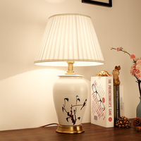 hand painted ceramic table lamp office lamps modern bedroom bedside decorative lamps study white desk lamp ZA913425