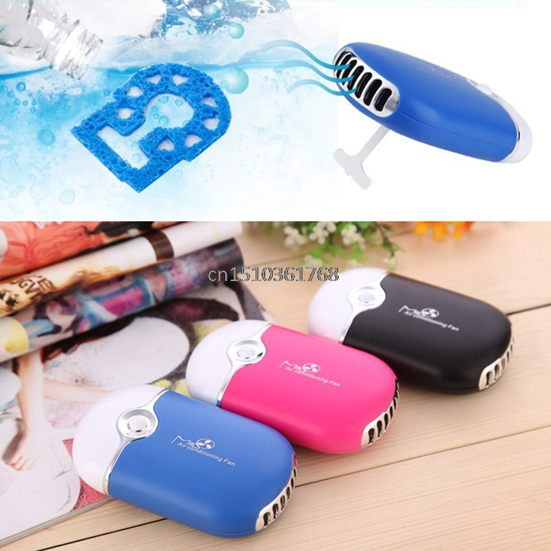 Mini Portable Hand Held Desk Air Conditioner Humidification Cooling Fan Cooler #Y05# #C05# lemon usb portable mini fan with mobile power hand held fan