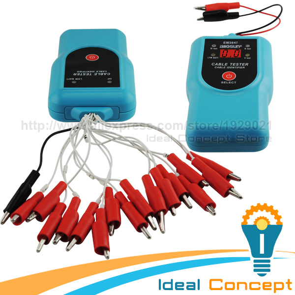 Cable Tester DC Voltage Continuity Test Alligator Clips Electrical Wire Cable