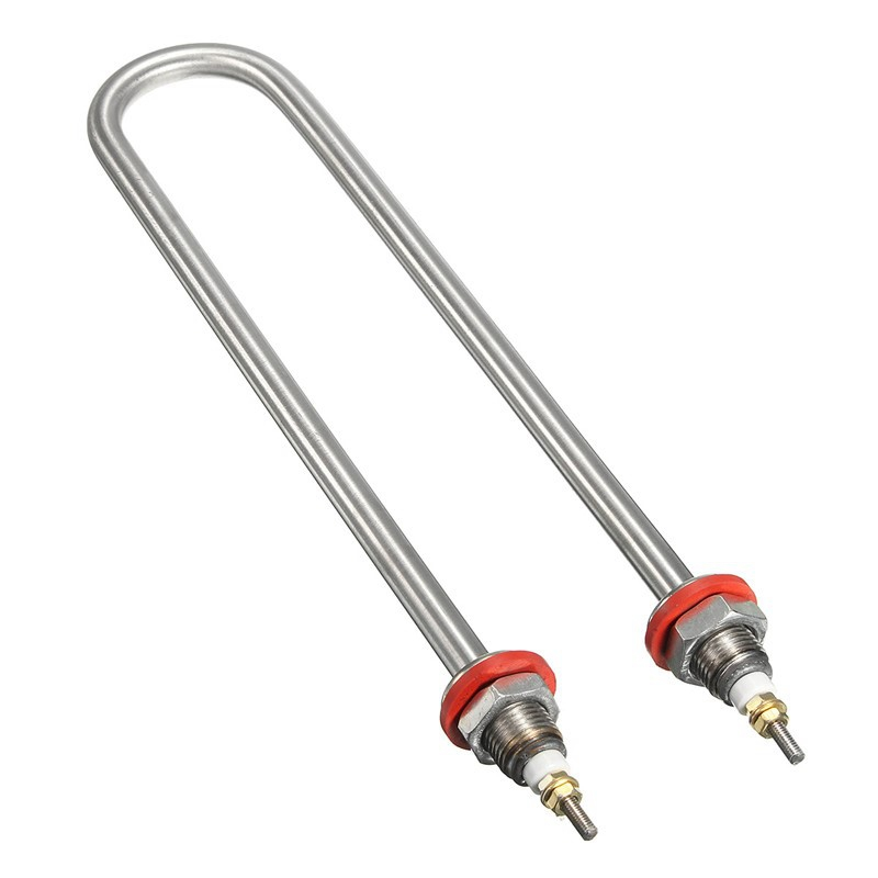 2kw Electric Heating Tube U Style Stainless Steel Water Heater Element AC 220V Corrosion Resistance Pipe