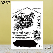 AZSG Thank you letter Clear Stamps For DIY Scrapbooking/Card Making/Album Decorative Silicon Stamp Crafts