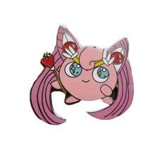Magic-Wand Game-Brooch Jigglypuff Glitter Sailor-Moon Pin Badge Anime Cute Pop-Accessory