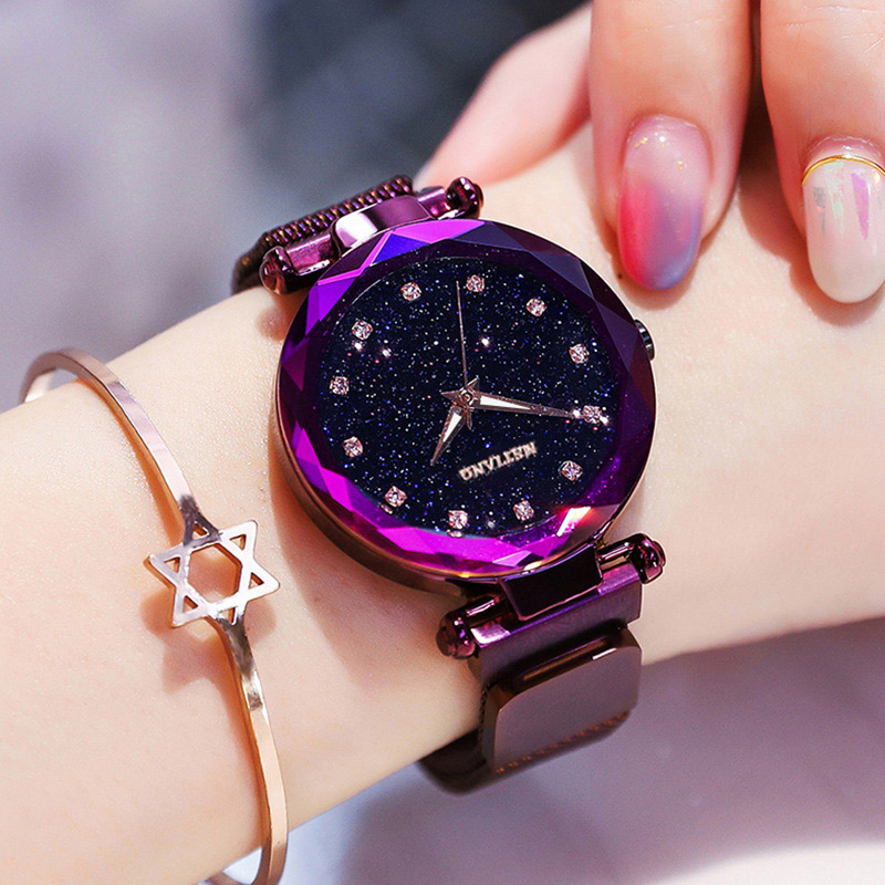 Luxury Women Watches 2019 Starry Sky Watch Ladies Magnetic Top Brand Rhinestone Female Quartz Wristwatches Relogio Feminino