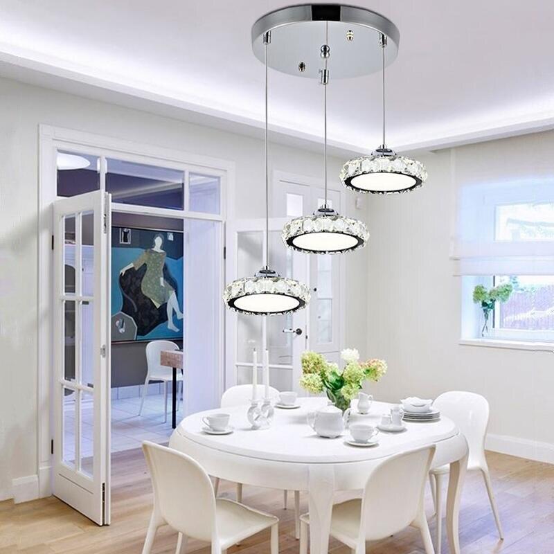 lustre de cristal moderno lampada led lustre de cristal ac110 260 luminaria de cristal led luz