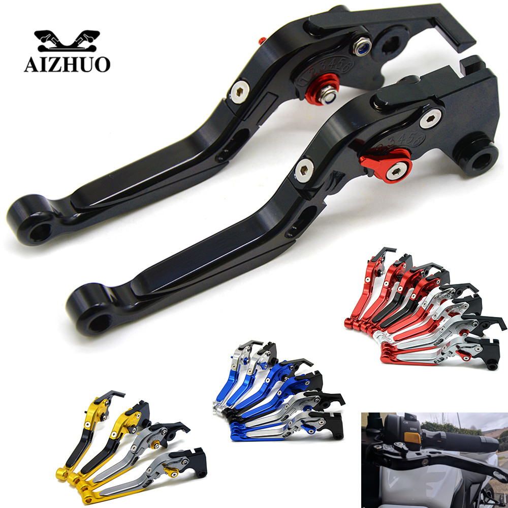 Motorcycle Accessories Folding Extendable Brake Clutch Levers For YAMAHA YZF R6 2005 2006 2007 2008 2009 2010 2011 2012 - 2016