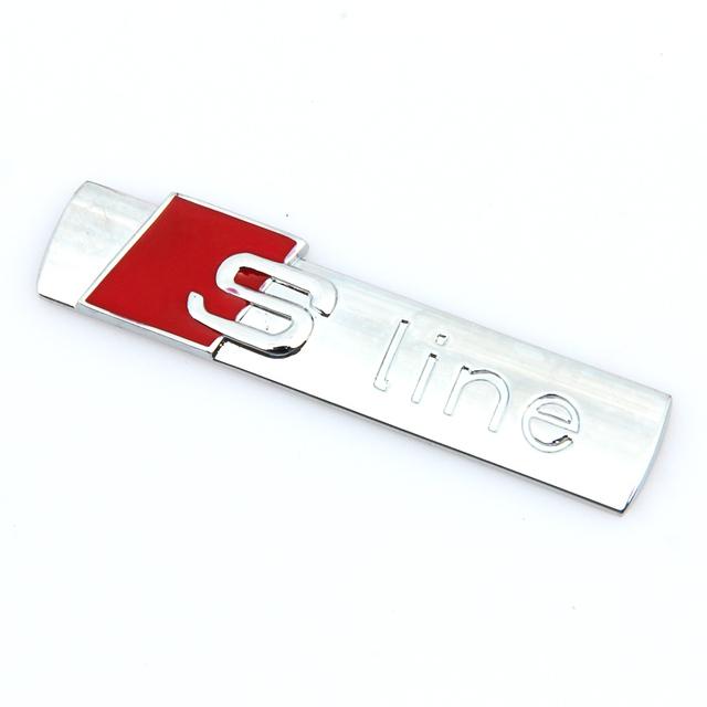 3D Aluminum Audi S Line  Stickers (2 pieces)