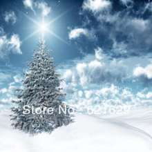 Snow scene 8'x8′ CP Computer-painted Scenic Photography Background Photo Studio Backdrop ZJZ-070