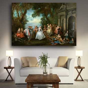 Noble Born European in The 17th Century Painting Printed on Canvas 2
