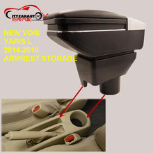 CITYCARAUTO USB FOR NEW VOIS YARIS L Car armrest box central Storage box with cup holder