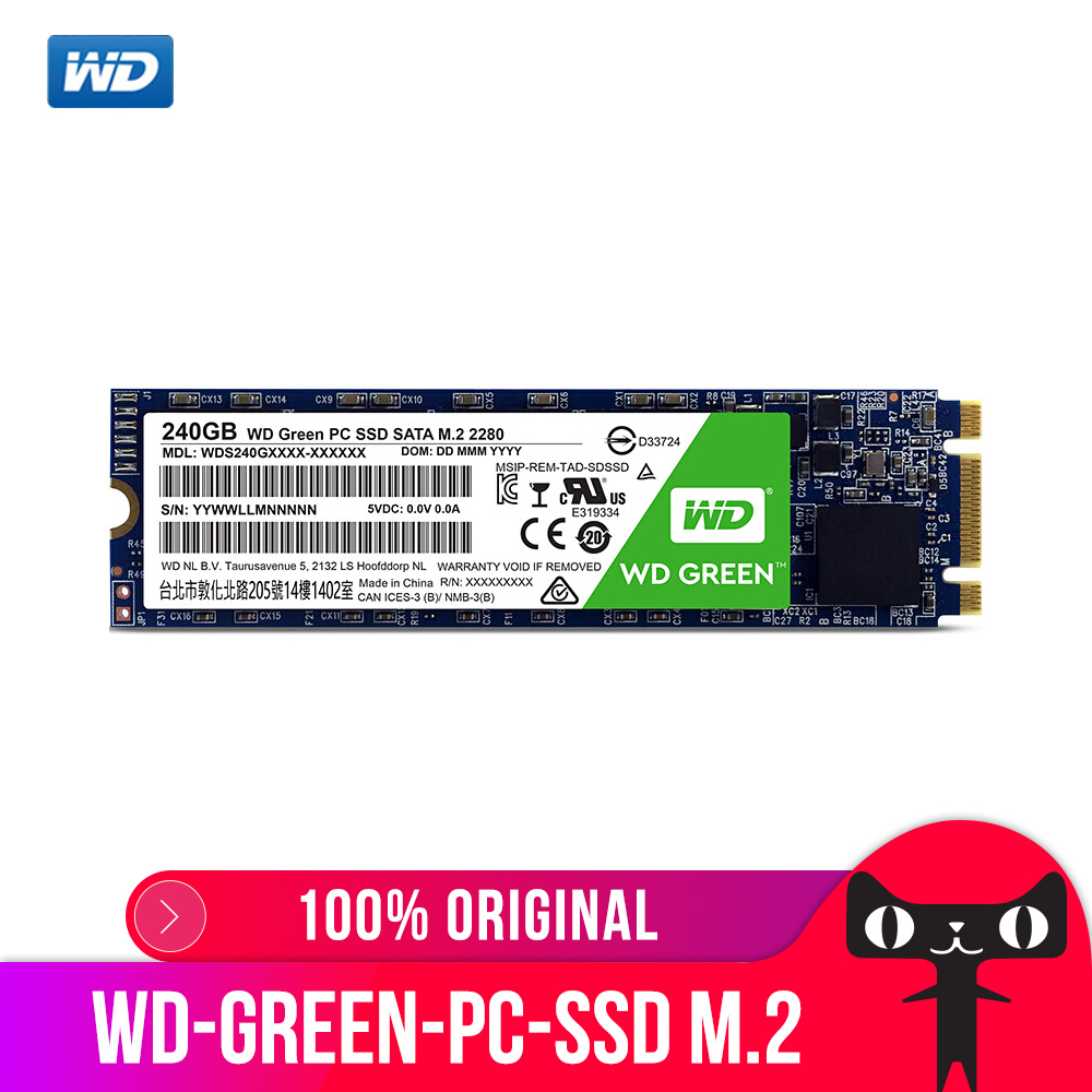Western Digital WD Vert PC SSD 120 GB Interne Solid State Disque Dur Disque WDS120G1G0B M.2 2280 540 MO/S 120 GB pour Ordinateur Portable PC
