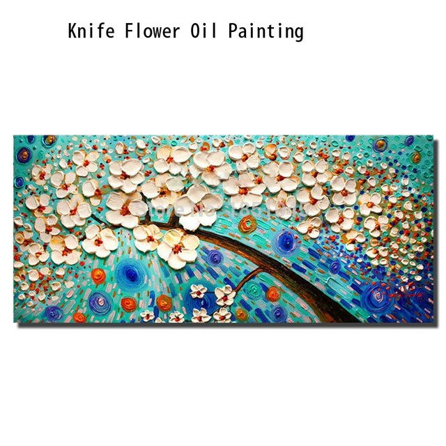 100% Hand-painted Free Shipping red tree Abstract Oil Painting White Knife Painting on the Canvas Pictures Art Home Decoration