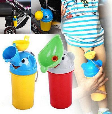 Cute Baby Boy Portable Urinal Travel Car Toilet Kids Vehicular Potty ED