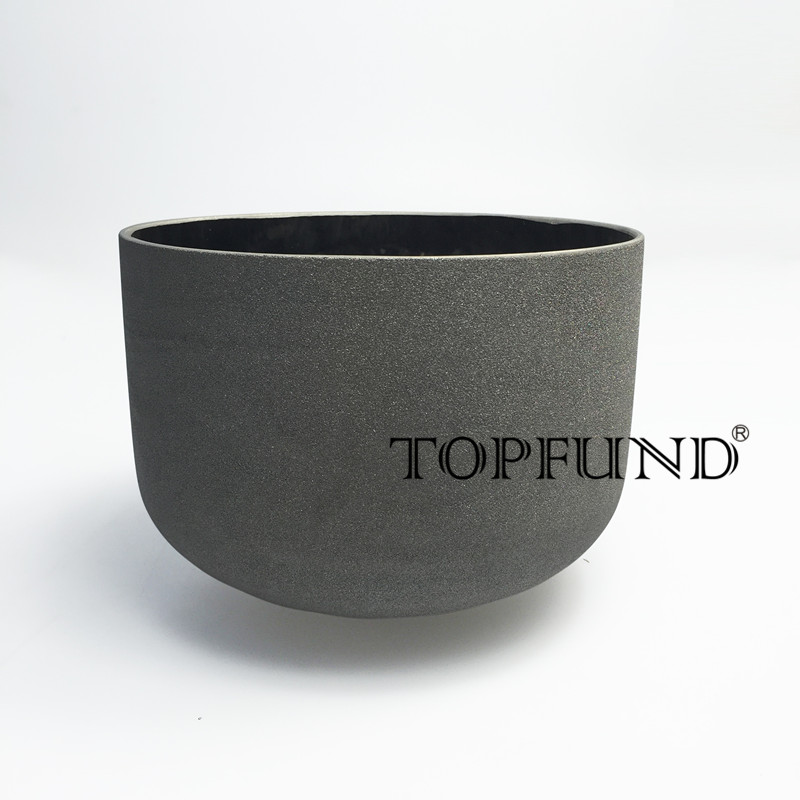 TOPFUND Platinum Frosted Quartz Crystal Singing Bowl 10 , ABCDEFG Note With Free Mallet and O-Ring