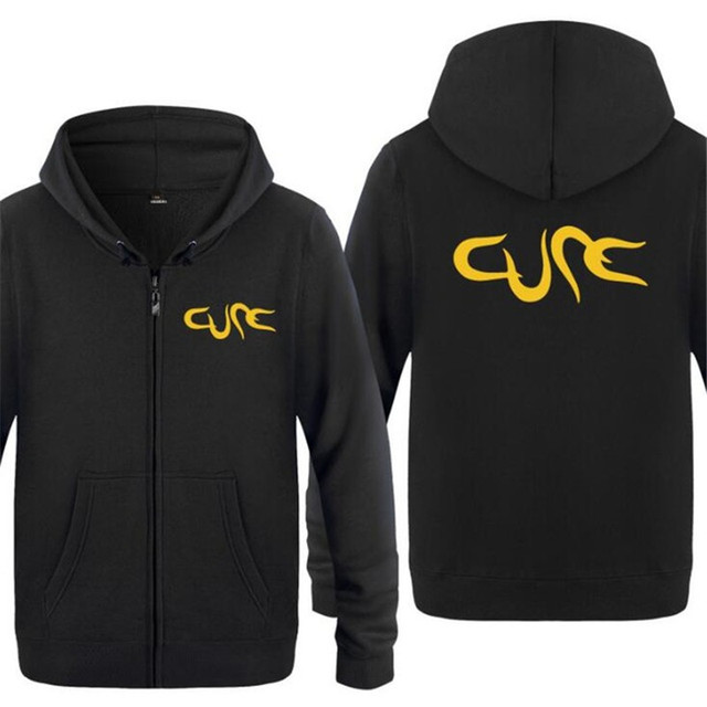 Mens Hoodies Rock The Cure Logo Hoodie Men Hip Hop Cotton Fleece Zipper Jackets Long Sleeve Men's Sweatshirt Tracksuit Sudaderas