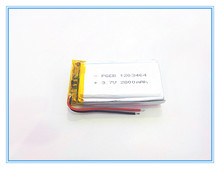 Free shipping 3.7 V lithium polymer battery 2800 mah rechargeable batteries, GPS navigation camera SD123464