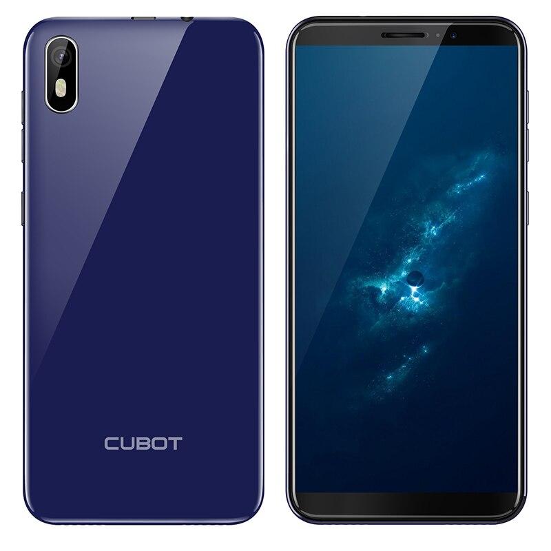 Cubot J5 Android 9.0 18:9 Full Screen 2GB 16GB 5.5 Inch MT6580 Quad-Core Smartphone 2800mAh 3G Dual Nano Sim Celular