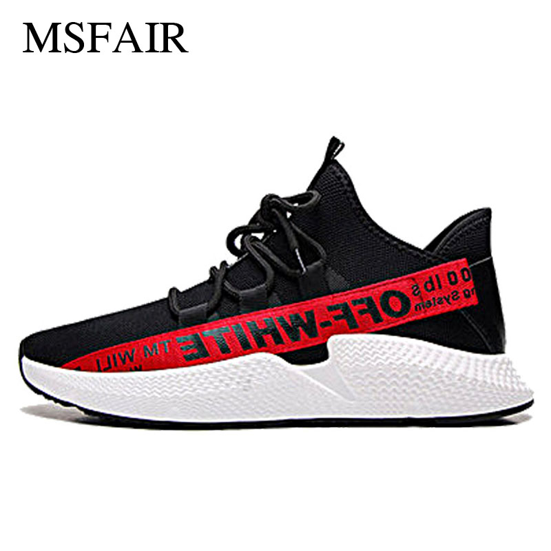 Msfair Men Running Shoes Breathable Womens Sneakers Super Light Mens Sneakers Sport Shoes For Men Brand Lovers Shoes size35-44