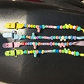 1PC New Baby Kid Hand Made Pacifier Chain Colourful Beads Dummy Clip Pacifier Clip Baby Soother Holder