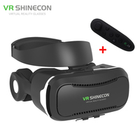 New VR Shinecon 4 0 Helmet Cardboard Virtual Reality Glasses Mobile Phone 3D Video Movie For