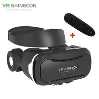 החדש vr shinecon 4.0 קסדת מציאות מדומה 3d סרט משקפיים vrbox עם אוזניות/לחצן בקרה עבור 4-5.5 smartphone + בקר