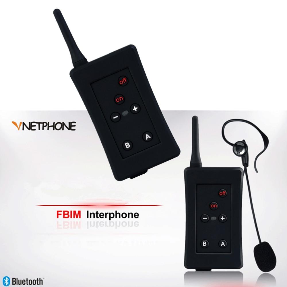 2pcs 2017 Latest Vnetphone Brand Football Soccer Referee Intercom  Motorcycle Bluetooth Intercom Full Duplex Referee Headset
