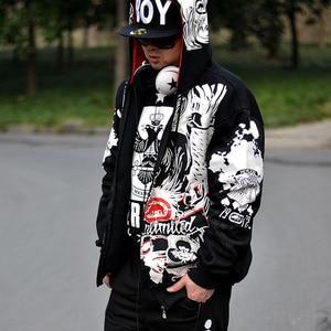 Image 1 - אירופאי גודל סווטשירט היפ הופ גברים 2020 אביב ובסתיו אופנה רחוב זכר שרבוט אישית נים הלבשה עליונה בתוספת גודל