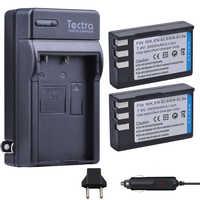 Tectra 2 pièces EN-EL9 EN-EL9A EN EL9 EN EL9A Li-ion Batterie + Chargeur Numérique pour Nikon D60 D40 D40X D5000 D3000 MH-23