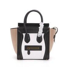 Desigener bag Women Handbag Genuine Leather Smile Face Tote Quality Trapeze  Smiley Clutches Bolsa Feminina( 364786c145b29