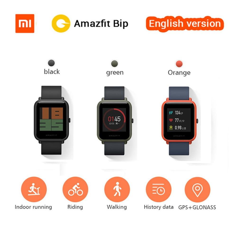 Original Xiaomi Smart Watch Xiaomi Huami Amazfit Bip Sports Watch GPS Heart Rate Smartwatch Pace Lite For iOS Android Watch xiaomi smart watch amazfit pace