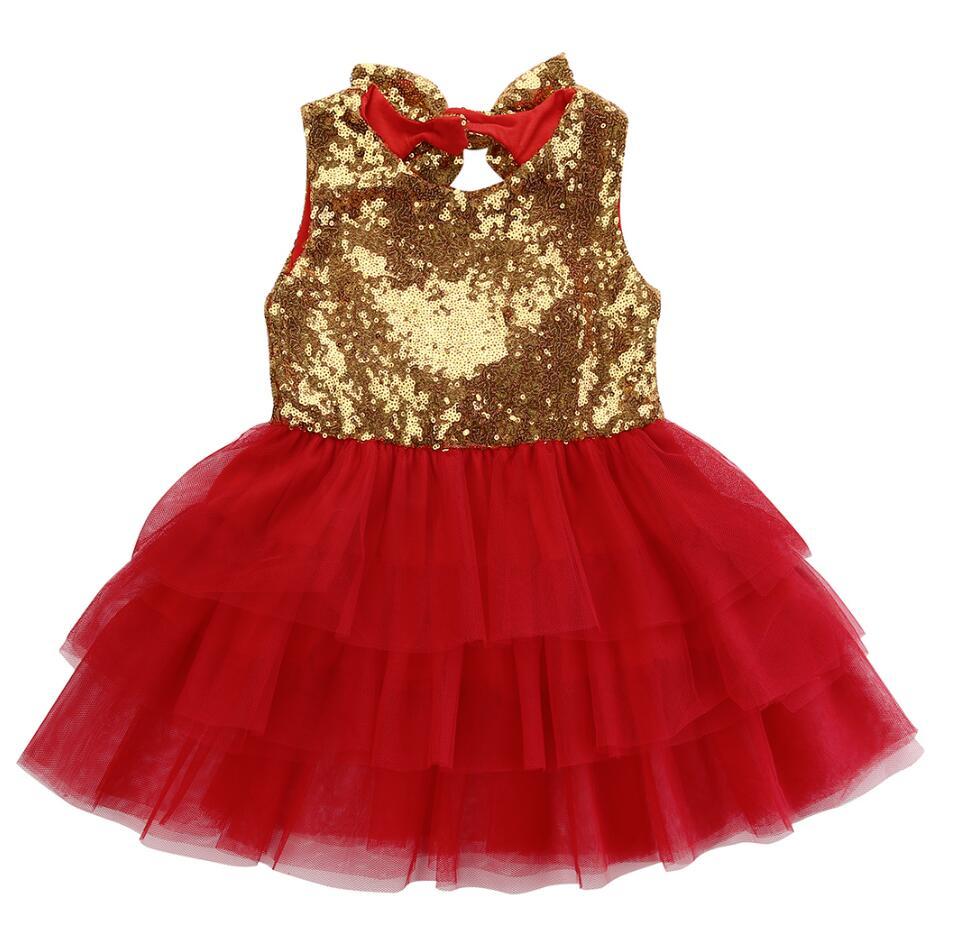 3cb520b3a Kids Baby Girl Dress 2018 Summer Costumes for Girls Sequins Cake Tutu Dress  Party Bow Dresses Backless Sundress ~ Best Seller July 2019