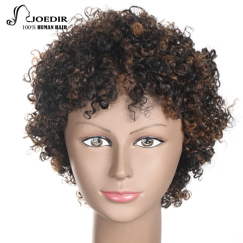 Joedir parte pelucas llenas pelucas rizadas del pelo humano corto - Productos de belleza