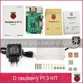 D Raspberry Pi 3 Модель B starter kit-pi 3 доска/pi 3 случай/ЕС power plug/теплоотвод