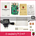 D Raspberry Pi 3 Model B starter kit-pi 3 board / pi 3 case /EU power plug/heat sink