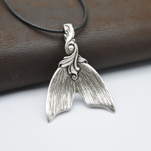 1pcs Vintage Silver Spoon Jewelry Pendant Mermaid Tail Necklace For Mom Grandmother Birthday Gift CT457