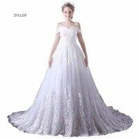 ZYLLGF Puffy Bride Wedding Dress 2018 Sweetheart Off Shoulder White Vestidos De Novia Lace Appliques Vestidos