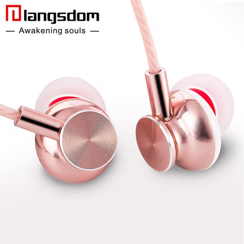 Langsdom M430 In-ear Metal Earphones Super Bass Stereo Headsets Earphone with Microphone 3.5mm Earbuds for Mobile Phone MP3 мешок для обуви peppa pig свинка пеппа superstar