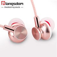 Langsdom M430 In-ear Metal Earphones Super Bass Stereo Headsets Earphone with Microphone 3.5mm Earbuds for Mobile Phone MP3
