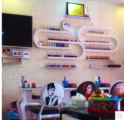 U nail nail polish display is a DIY combination of cosmetic nail rack wall hanging lipstick in Storage Holders Racks from Home Garden