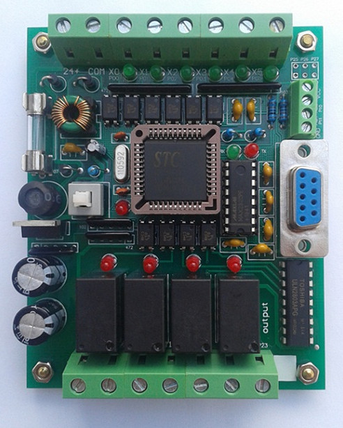 Free Ship 5pcs/lot PLC Chinese Brand PLC Industrial Control Board 51 MCU Control Board FX1N 2N 10MR PLC Learning Board Module