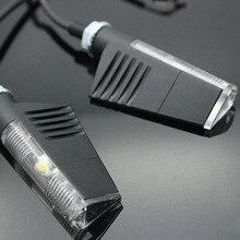 2x Motocicleta Graffio Aluminio para rizoma Luces LED Luz Indicadora de Intermitencia Blinker Negro Universal