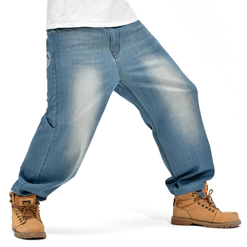 New Arrival Fashion Designer Mens Jeans Wide Leg Denim Pants Loose Hip Hop Skateboard Jeans Straight Trousers Harem Baggy Pants hot new large size jeans fashion loose jeans hip hop casual jeans wide leg jeans