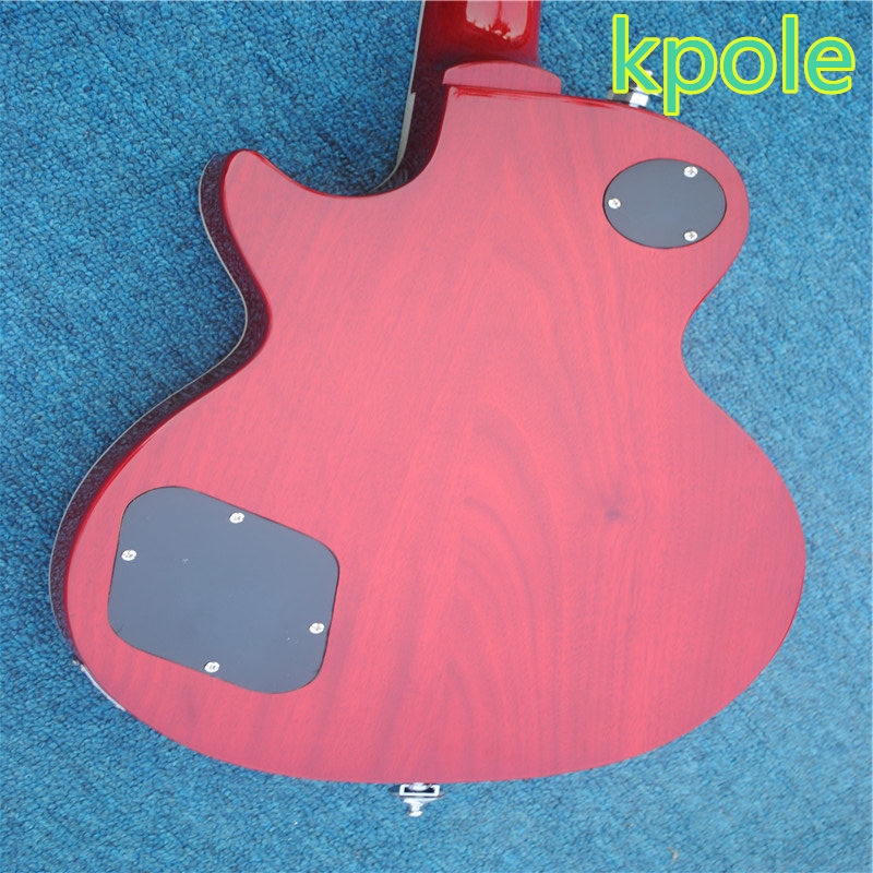 Free shipping Wholesale Custom shop Kpole R9 Tiger Flame electric guitar Standard LP electric guitar HOT!
