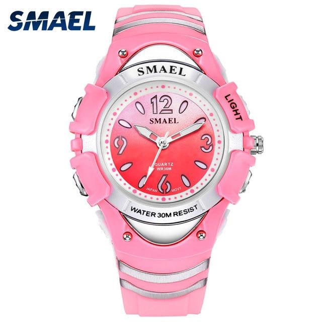 Children Watches SMAEL Watch Waterproof 30M Luminous Casual Fashion Quartz Wrist