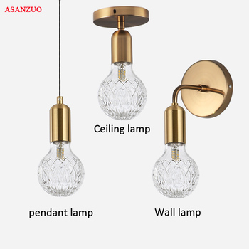 Simple Fashion Brass Wall Light Bedroom LED wall lamps Vintage Wine Bottle Aisle ceiling Lamp Dining room Modern Hanging lamp