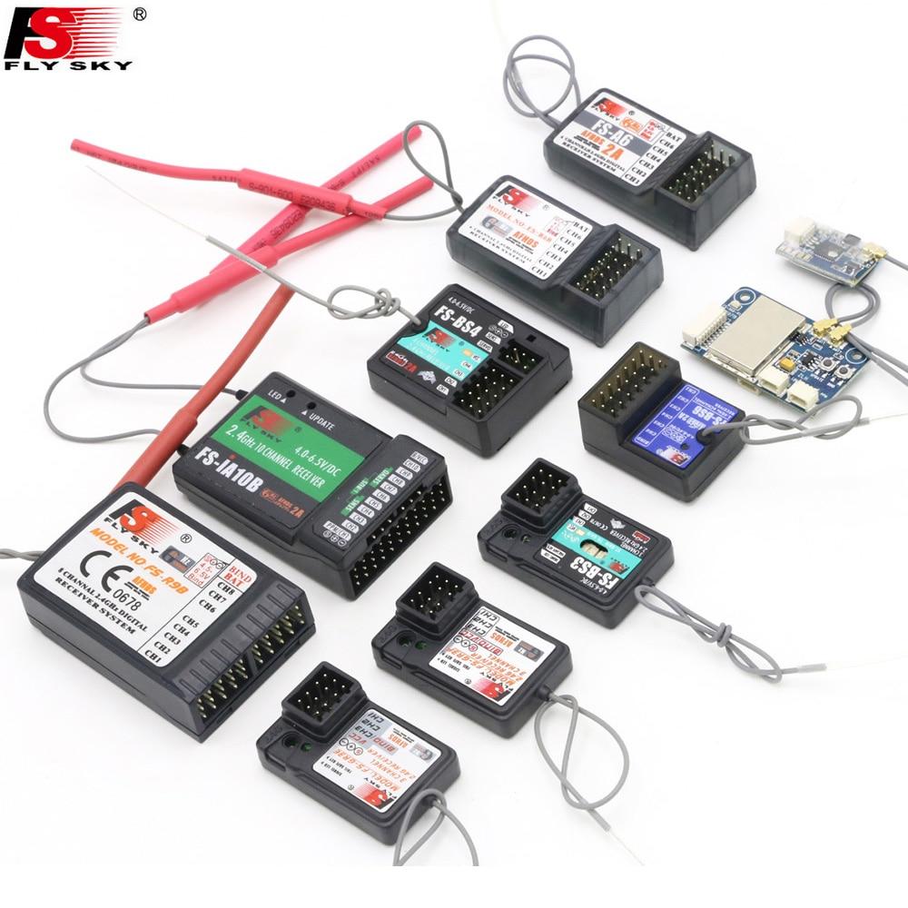 Flysky FS-GR3E FS-A3 FS-A6 FS-R6B FS-X6B FS-iA6 FS-iA6B FS-BS6 FS-A8S FS-R9B FS-iA10 FS-iA10B Rc Receptor para o Transmissor Flysky