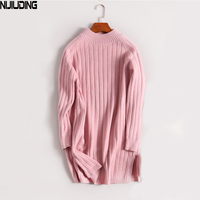Han Edition Dress In Autumn And Winter Long Half A Turtleneck Sweater Coat Loose Set Of