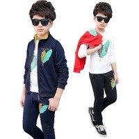 3Pcs Children's Kids Autumn Boy Outfit Sports Suit Set Children Outfits Tracksuit Clothes Jogging Boys Clothes Tracksuit Q27